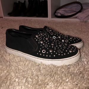 Sam Edelman Studded Suede Slip On Sneakers Size 8